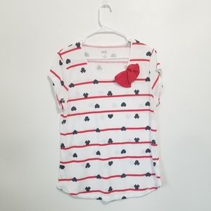 Disney Minnie Mouse Heart and Bow Shirt